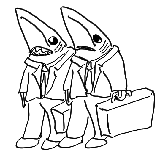 Sharks in suits
